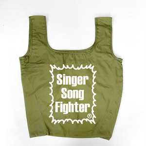 Singer Song Fighter ナイロンリップストップ マルシェバッグ (エコバッグ)カーキ