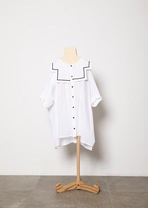 【21SS】folkmade(フォークメイド) sailor collar shirts シャツ white(L)