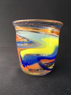 1点もの!麻炭ガラス/練り込みマーブルグラス No,01