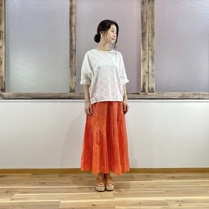 【Lupilien】 綿ボイル パッチワークスカート