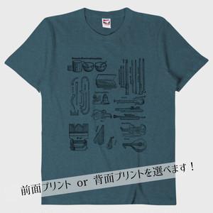 【Tシャツ】ルネサンスの楽器たち(デニム)