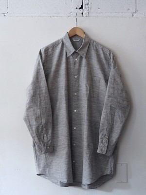 FUJITO Long Silhouette Shirt Top Gray