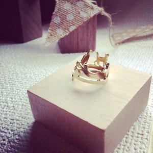 4匹ねこリング 真鍮  4cats ring brass version
