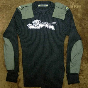 "【HAMATOLA!】 Padded Motorcycle Sweater ""White Sable Tiger"""