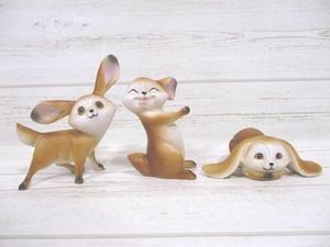仲良し野うさぎ家族の置物小 3体セット(こども)