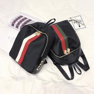 【バッグ・財布】ストライプ柄合成革リュックサック17428509