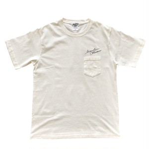 Aloha girl pocket tee / isamu gakiya × Mountain / White