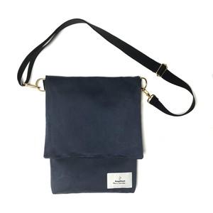 【 Re:n 】 Faux suede shoulder bag Navy