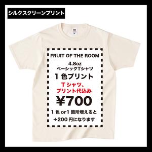 FRUIT OF THE ROOM フルーツ ベーシックTシャツ (品番J3930HD)