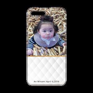 iPhone・Android Mサイズ モコモコハードケース color:ホワイト