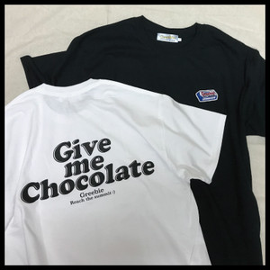 GIVE ME CHOCOLATE Tee【White/Black】