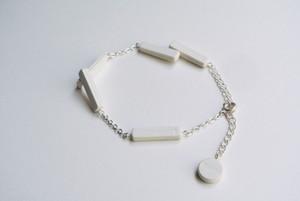 BLOCK BRACELET【WHITE】