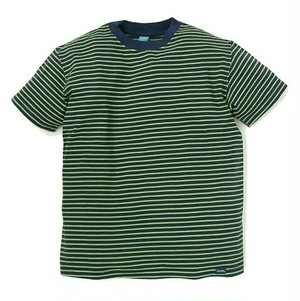 Good On / グッドオン |【SALE!!!】S/S BORDER TEE - Navy/Lime