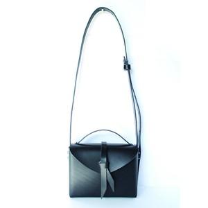 2way mini  box bag / 2way ミニ レザーボックスバッグ #黒色