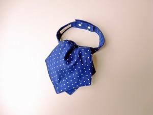 アスコットスタイ(マリン×ドット) ブルー×ブルー