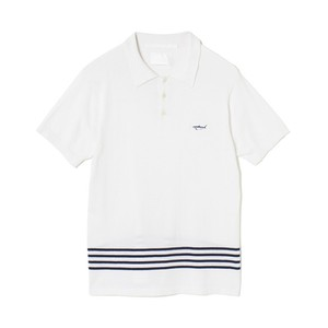 White Mountaineering / KNIT POLO SHIRT[WHITE]