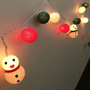 冬の灯り クリスマスコットンボールライト ガーランド
