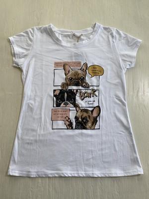 3457【3dog Tシャツ (ホワイト)】