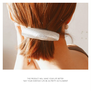 【barrette】1color Slash Design Metal Barrette[kgf0414]