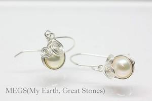 【6月誕生石】Twinkle 『きらめき KIRAMEKI』ピアス 【アルゲンティウムシルバー930 あこや真珠】