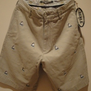 "BERLE/バール USA |【超特価SALE!!!60%OFF】EMBROIDERY CHINO SHORTS ""SAILBOAT"" KHAKI"