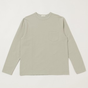 niuhans / Dry Touched Cotton Inlay L/S Pocket Tee[MossGreen]