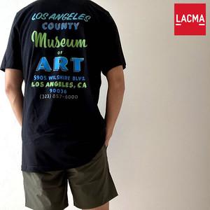 【ロサンゼルスから】LACMA Hand Painted Sign T-shirt LACMA オリジナル ロゴ Tシャツ【62653-all】
