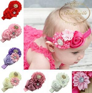 7色 赤ちゃん ヘッドドレス お祝い かわいい 髪飾り 頭飾り コサージュ 海外