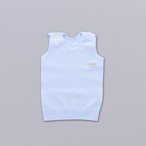 【ベビー】軽く柔らかいファッションノースリーブラウンドネックベビートップス24835007