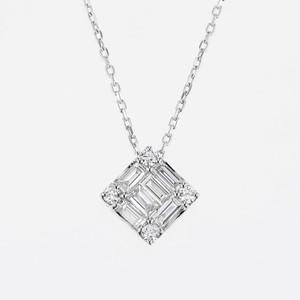 Wish K18WG Diamond Pendant Necklace (ダイヤモンド ペンダントネックレス)