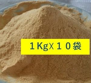 【業務用】低脂質・低糖質!業務用:100% 無添加・国産・遺伝子組み換えでない大豆プロテイン! スーパープレミアムきなこ1Kg☓10袋入り