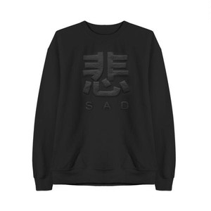 【MaryJaneNite】SAD SWEATSHIRT black