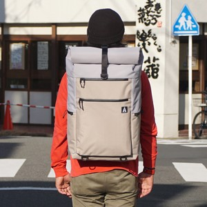 【即納】BackPack Rolltop 031(Light Grey×Sand Beige)