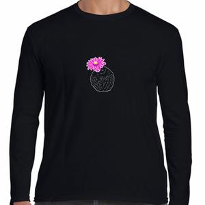 花さぼてん ロンT #ブラック
