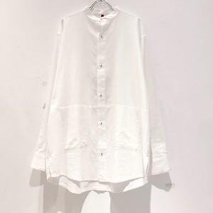 YANTOR khadi cotton stand shirt White