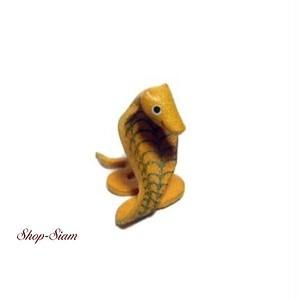本牛革 アニマル キーチェーン ヘビ・蛇/Snake ハンドメイド製