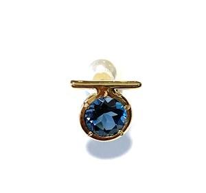 E10-0042a-LBT 【K10 Ω london blue topaz earring】