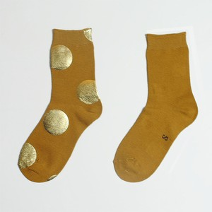 METAL SOX (4.5DOT) MUSTARD X GOLD