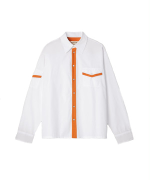 MARNI Contrast Shirt (STN932) White-Orange CUMU018Q0