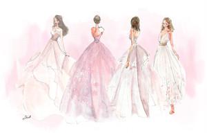 A4アートプリント《額なし》ピンクドレス