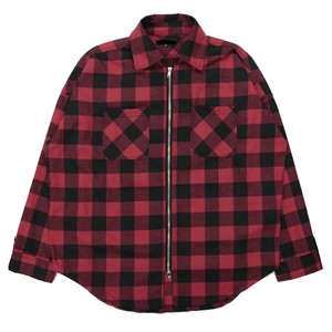 Zip shirt jacket RED