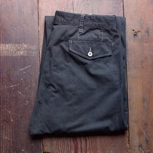 New Euro Military Work Pants Over Dyed / 後染めブラック チノパン