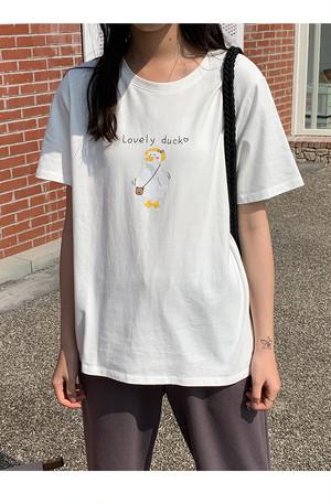 ダックプリントTシャツ