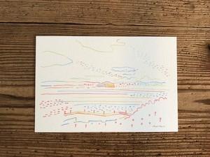 postcard「sunset/etajima」