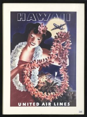品番2123 ポスター 『HAWAII(ハワイ)』 UNITED AIR LINES アート 壁掛 インテリア