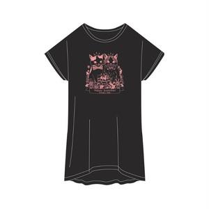 バニちゃん&にーにくんTシャツ<ディープブラック>フリーサイズ