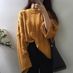 【トップス】秋冬新作無地ゆったり合わせやすいニットセーター