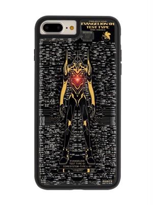 FLASH EVA01 基板アート iPhone7/8 Plusケース 黒【東京回路線図A5クリアファイルをプレゼント】
