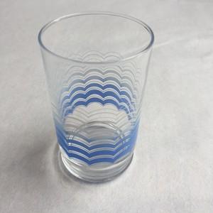 波模様 ガラスコップ アンティーク