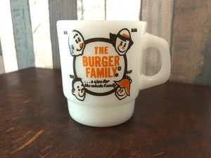 Fire-king マグカップ「A&W THE BURGER FAMILY」